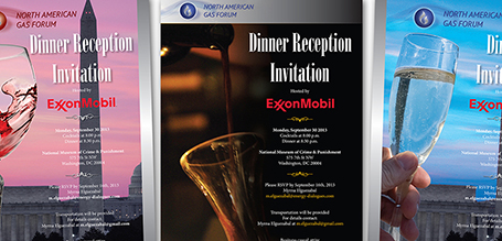 North American Gas Forum Invitaition Design