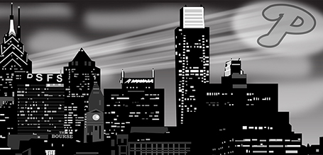Philadelphia Skyline Vector Illustration
